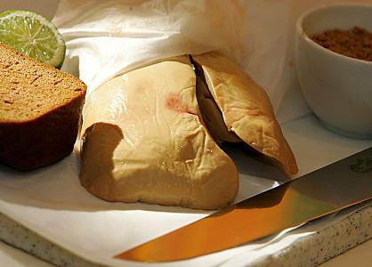 gras sur le foie humain