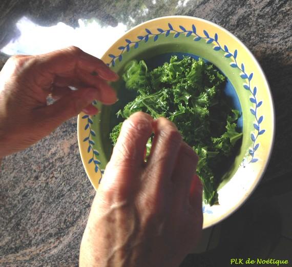 chou kale préparation