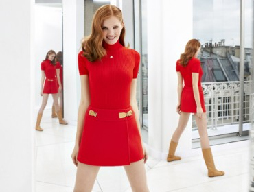 courrèges robe rouge