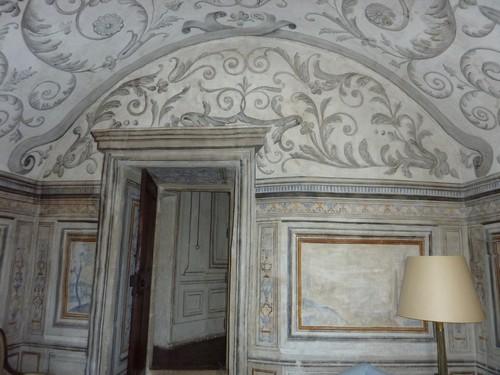 château-de-Bagnols-plafond-salon-appartement-madame-sévigny