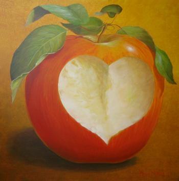 pomme-aliment-détox-avec-un-coeur