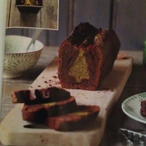 Cake surprise au chocolat et thé matcha