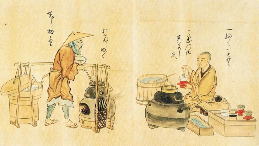 thé-matcha-Kanō-Osanobu-utaiawase-ceremonie-du-thé