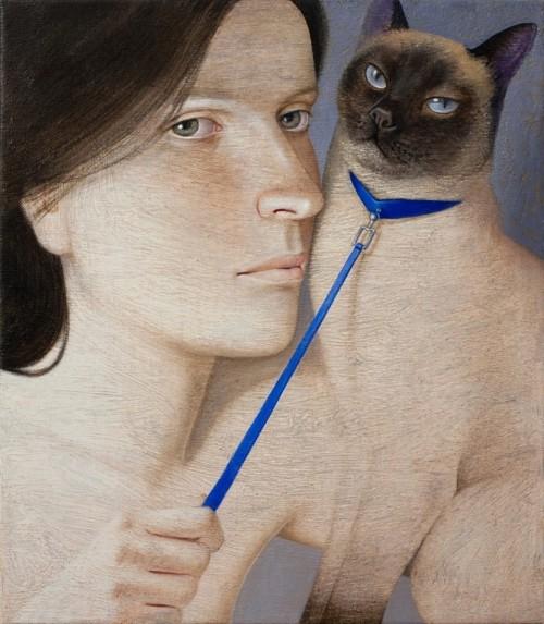 chat-en-laisse-bleue-Vladimir Dunjic-
