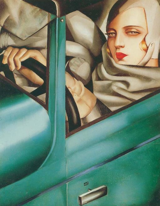 Lempicka_Autorportrait-Bugatti-verte-1929