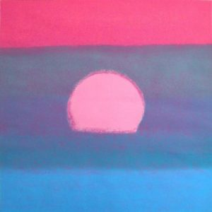 Sunset Unique Blue By Andy Warhol