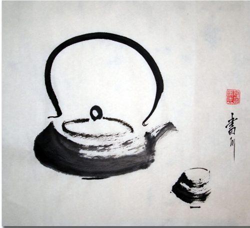 théière-the-zen-peinture-a-l-encre--the-zen-