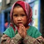 tibet -fillette-namasté
