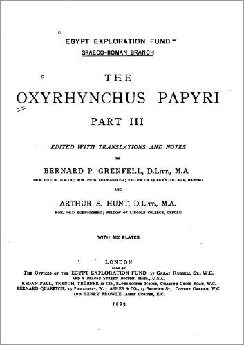 oxyrhunchus papyrus