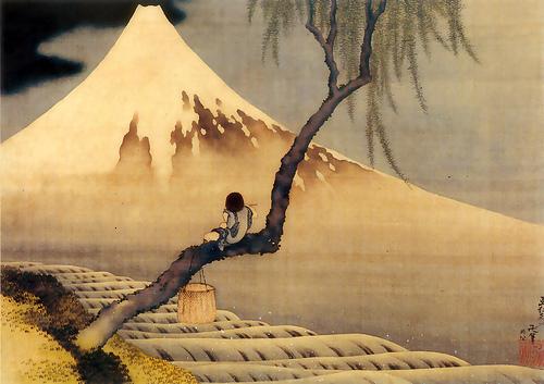 hokusai-joueur-de-flûte-sur-une-branche-de-saule