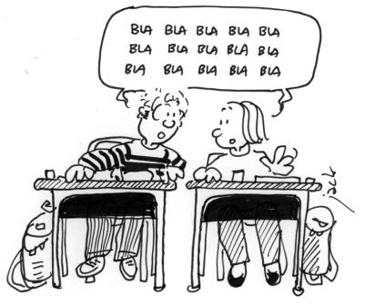 écoliers-qui-bavardent