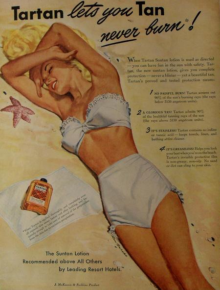publicité-vintage-tartan-produit-solaire