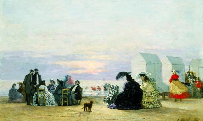 Eugène-boudin-plage-environ-de-trouville