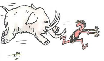 mammouth-qui-poursuit-un-homme-des-cavernes