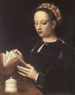 Ambrosius-Benson-Jeune-femme-lisant