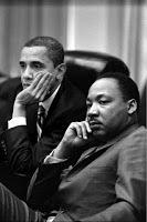 montage-photo-Obama-martin-Luther-King-côte-à-côte