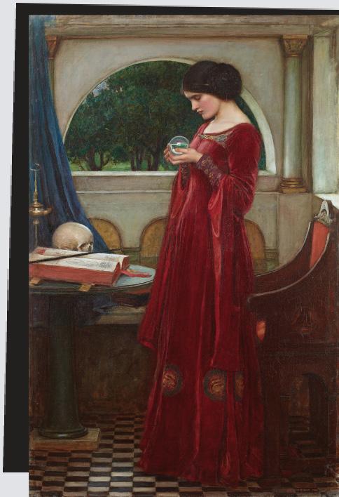 « Boule de cristal » où John William Waterhouse