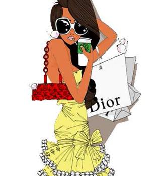 fashion-victime-portant-plein-de-paquet-dior