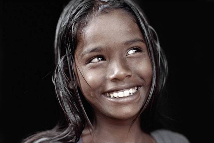 sourire enfant inde