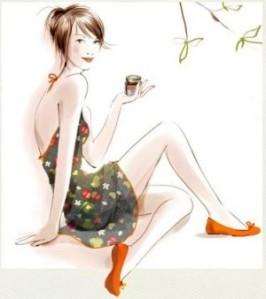 femme-qui-boit-du-thé