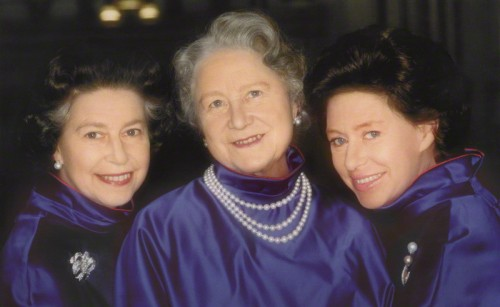 Queen Elizabeth II; Queen Elizabeth, the Queen Mother; Princess Margaret by Norman Parkinson colour print, 198015 1/2 in. x 19 1/2 in. (394 mm x 495 mm) Given by the photographer, Norman Parkinson, 1980