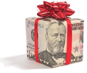 cadeau-papier-dollar
