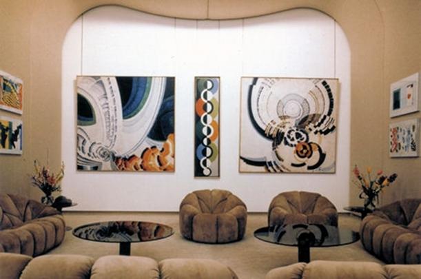 claude Pompidou- Pierre Paulin-mobilier Elysée