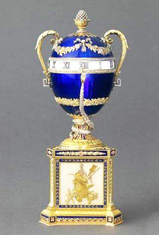 Fabergé-pendulette-aux-serpents