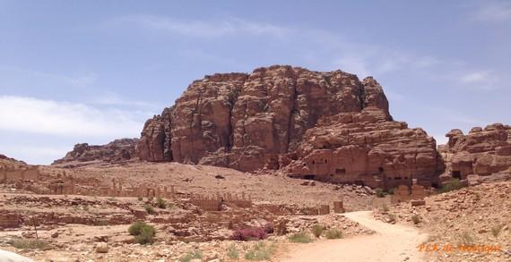 pétra-vue-sur-le-massif-d-'al-Habis