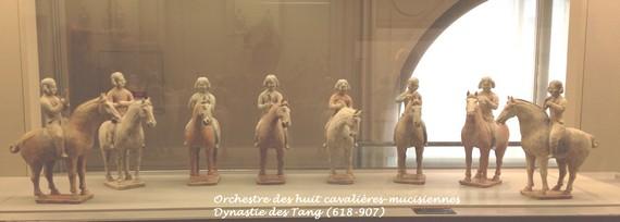 Musée-Cernuschi-orchestre-des-huit-cavalières-époque-Tang