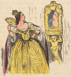 illustration-femme-en-jaune-dans-son-miroir