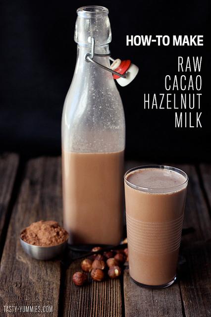 lait de noisettes au cacao