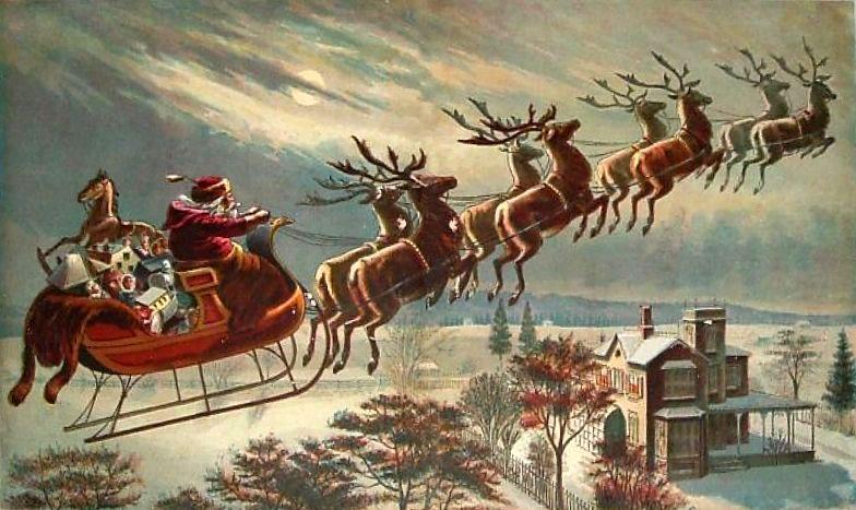Les Renne Du Pere Noel.Les Rennes Du Père Noël Ont Les Yeux Bleus