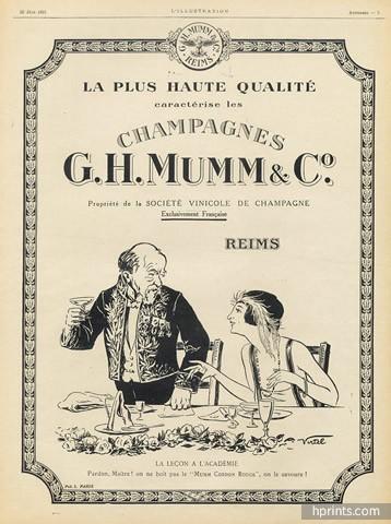 Mumm (Champagne) 1921 E. Virtel, Academician
