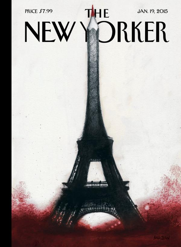 je-suis-charlie-couverture du newyorker-ana Juan