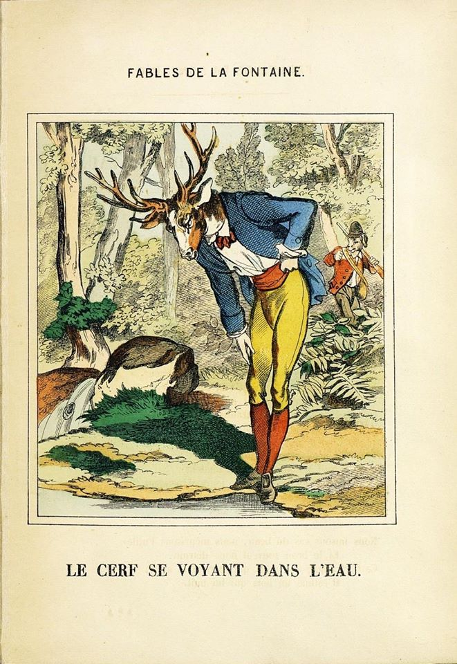 le cerf qui se voyait dans l'eau pellerin la fontaine epinal