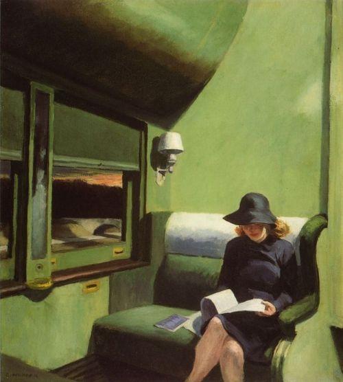 Compartment-Car-Edward-Hopper-femme-qui-lit-dans-un-train