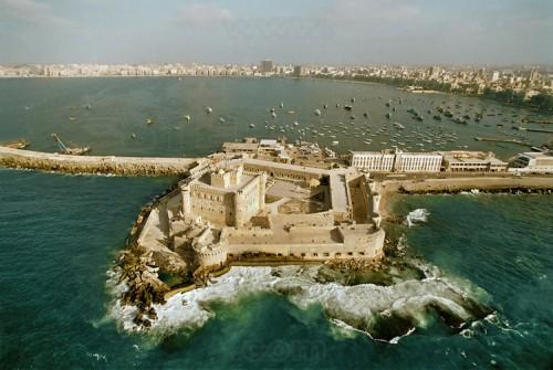 fort-Qaitbay-phare-d'alexandrie-merveille-du-monde