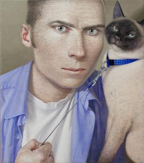 chat-en-laisse-homme-en-chemise-bleue-vladimir-dunjic-