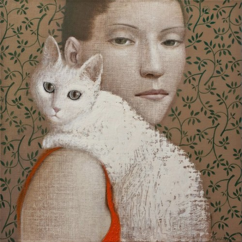chat-femme-en-orange-Vladimir-Dunjic