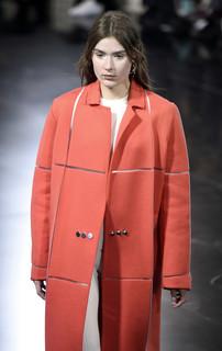 courrèges manteau-chauffant-orange