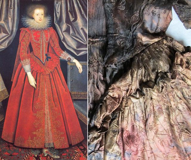 robe-de-soie-découverte-jean-kerr-naufrage-henriette-marie-de-france