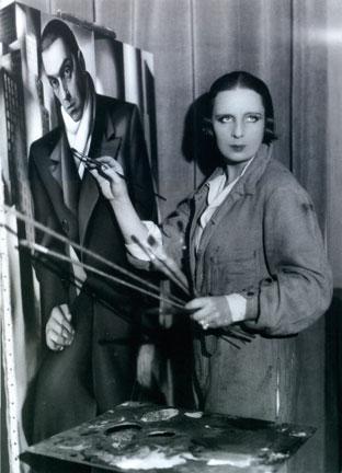 Tamara de Lempicka dans son atelier (c) Coll. Part. - (c) ADAGP
