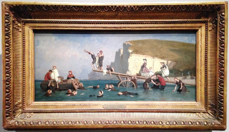 le-poitevin-bain-à-Etretat-impressionnisme