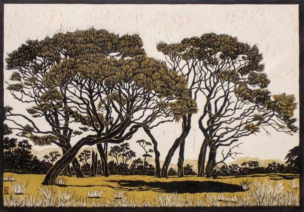 golden-bay-landscape-linocut-rachel-newling