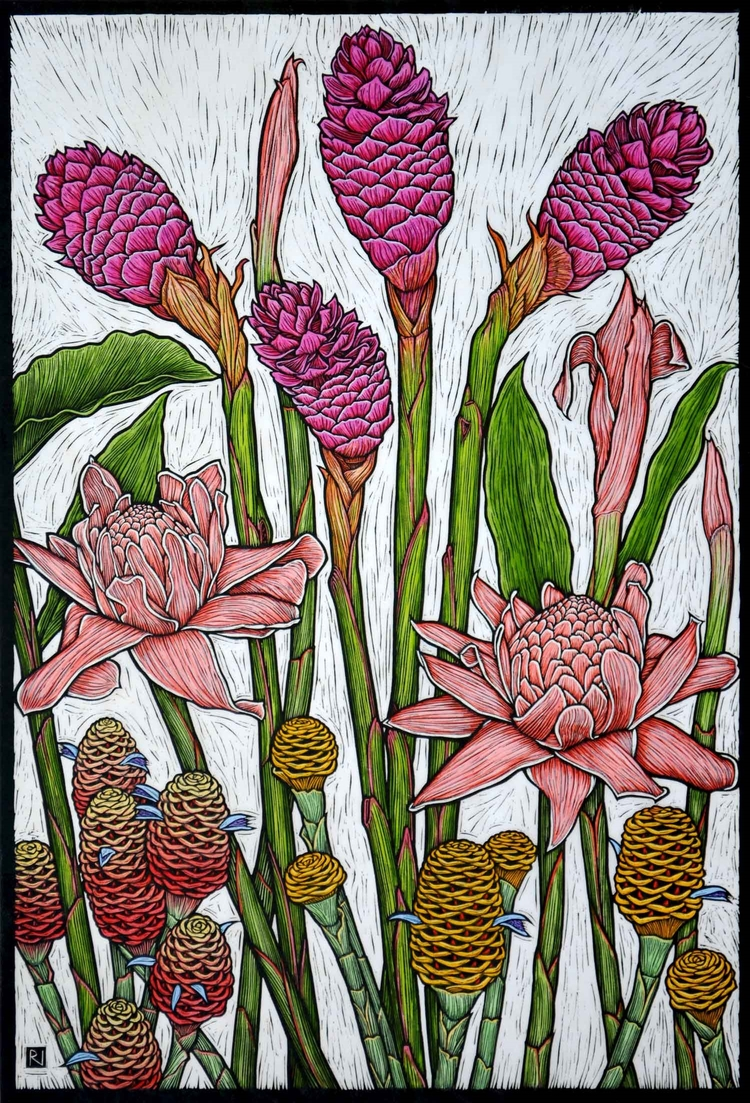 tropical-gingers-linocut-rachel-newling