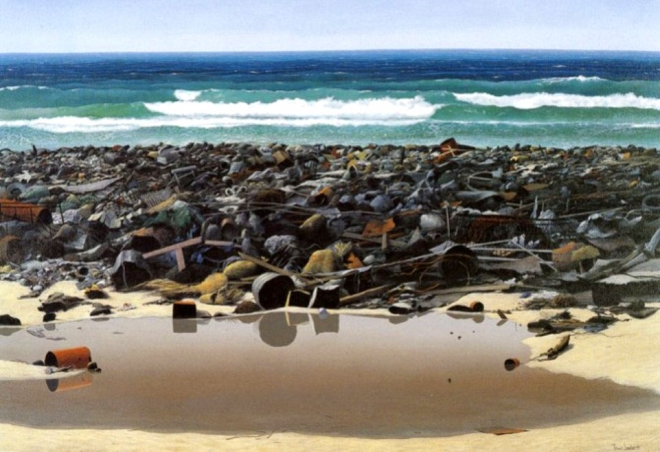 polluted-beach-oil-painting-tomás-sánchez