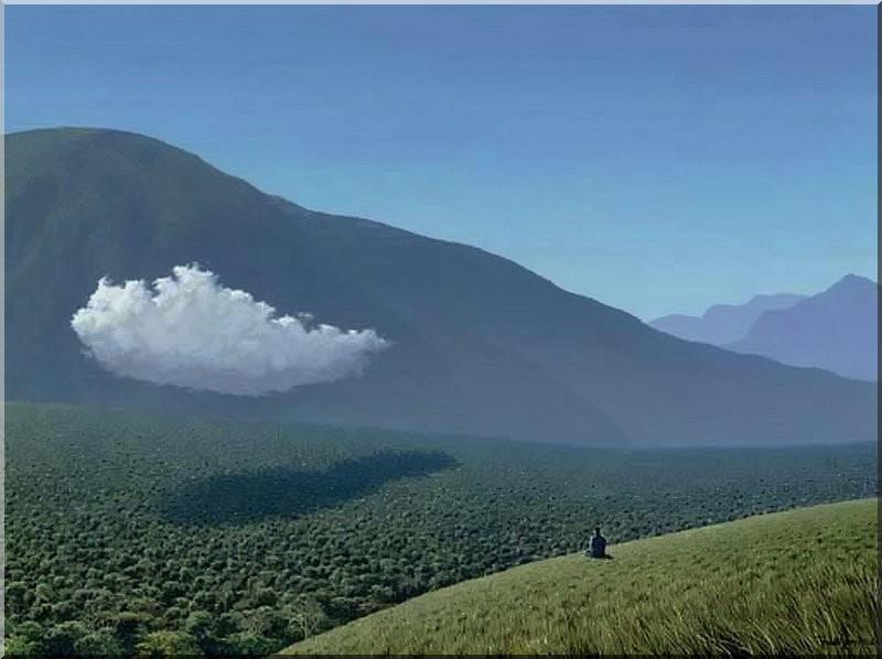 tomas-sanchez-nuages-meditant-foret