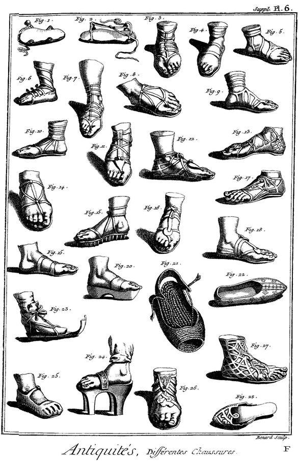 planche-chaussures-encyclopédie diderot et d'alembert