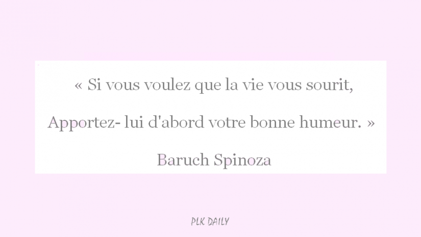 daily quote spinoza